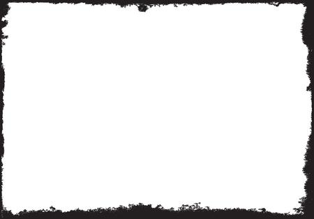 grunge frame: grunge black frame with white background for your text Illustration