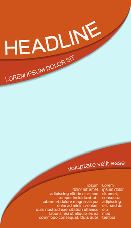 vector leaflet template with place for your image, abstract multipurpose business brochure design