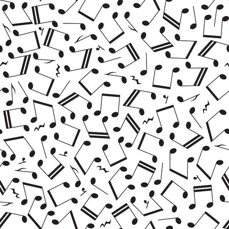 Vector seamless music  created from notes