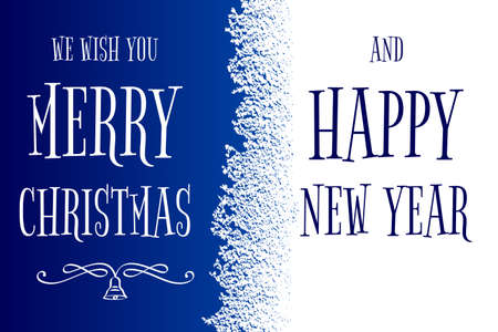 Merry Christmas and Happy New Year greeting cad with icing frame