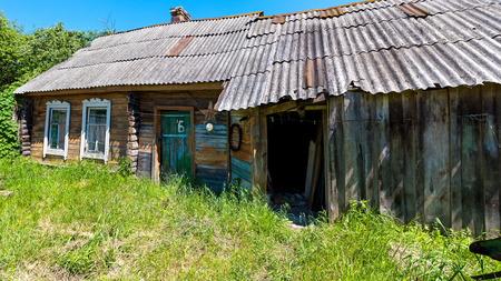 gloom: Housing of ordinary people in the Russian village. Gloom. Desolation. The hopelessness.