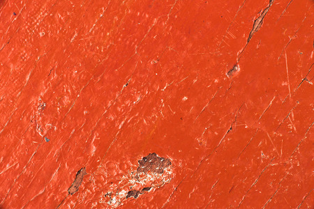 scuff: Textural image. Closeup of painted wooden surface. Stock Photo