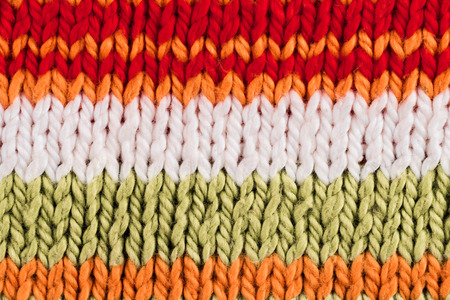 textural: Textural image. Closeup of cotton hand-knitted fabric. Stock Photo