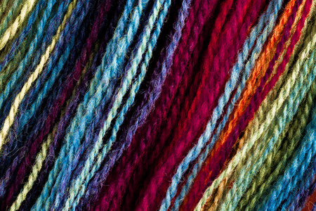 textural: Textural image. Closeup of wool space-dyed yarn.