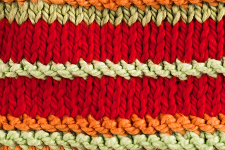 animal origin: Textural image. Closeup of cotton hand-knitted fabric. Stock Photo