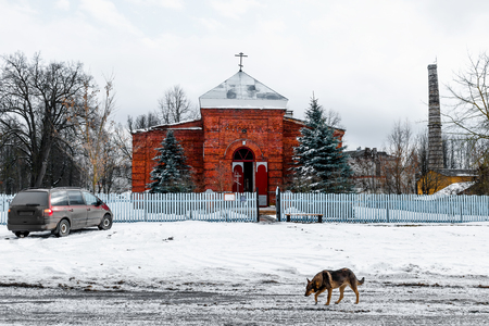 hinterland: Exterior of the Orthodox Church in the Russian hinterland.