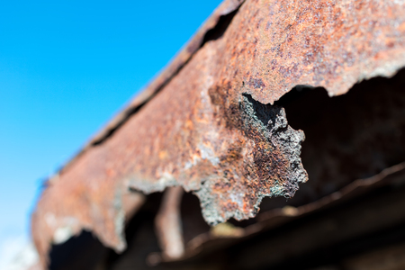 worn structure: Detail of the exterior of an old countryside house. Stock Photo