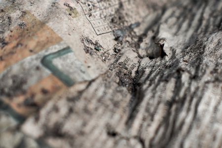 wornout: Closeup picture. Surface of worn-out battered paper . Stock Photo