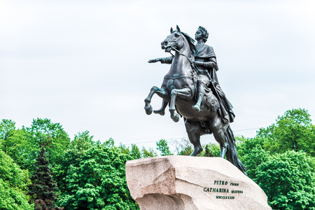 peter the great: Equestrian statue of Peter the Great in Saint-Petersburg, Russia. Opened in 1782.