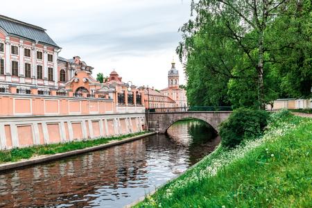 lavra: ST. PETERSBURG, RUSSIA, historical buildings of Alexander Nevsky Lavra.