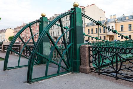 piter: Pochtamtsky bridge on Moyka river, Saint Petersburg, Russia.