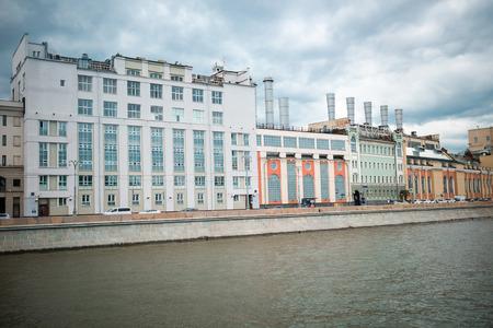 historical buildings: Moscow, Russia - June 5, 2016: Historical buildings on Raushskaya embankment. Editorial