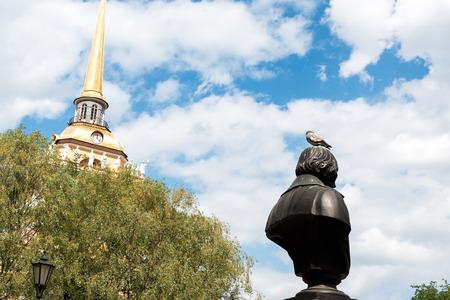 nikolay: Monument to Nikolay Vasilyevich Gogol in Alexandrovsky garden, St.Petersburg, Russia.