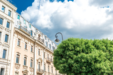 architectural details: Architectural details of old apartment building, St. Petersburg, Russia.