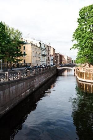 neighbourhood: St.Petersburg, Russia - May 16, 2016: New Holland island reconstruction and view of its neighbourhood.