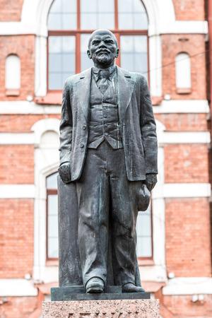ulyanov: The monument to V. I. Lenin (Ulyanov) on Bolshoy avenue of Vasilyevsky island.