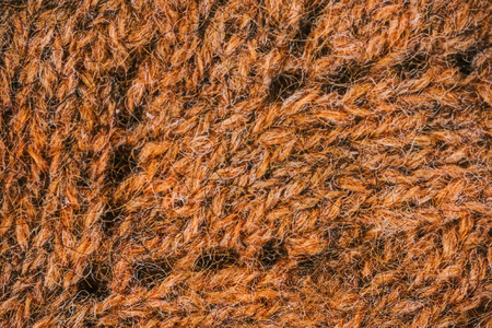 eyelet: Macro flat view of knitted surface in copper eyelet
