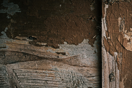 old furniture: Old wooden furniture detail with shabby brown paint. Macro view