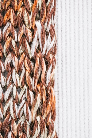 corduroy: Knitted color-blend fabric  combined with milky white corduroy. Macro view