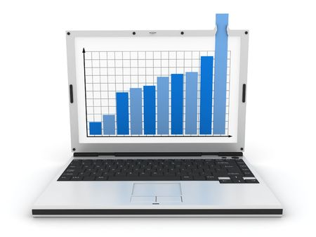 anything: graph showing high growth anything Stock Photo