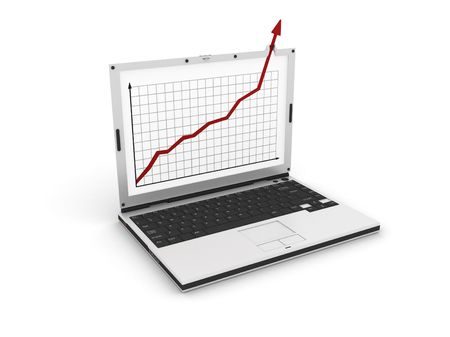 graph showing high growth anything Stock Photo - 3516129