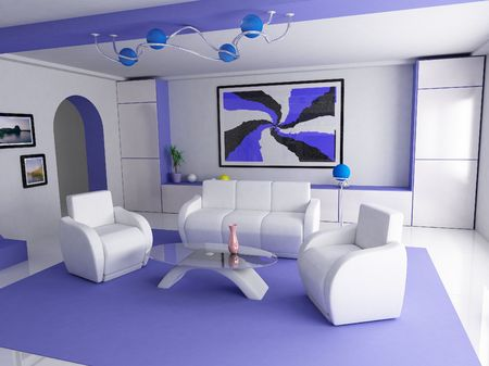 a design of room of zdelanyy is in soft flowers   photo