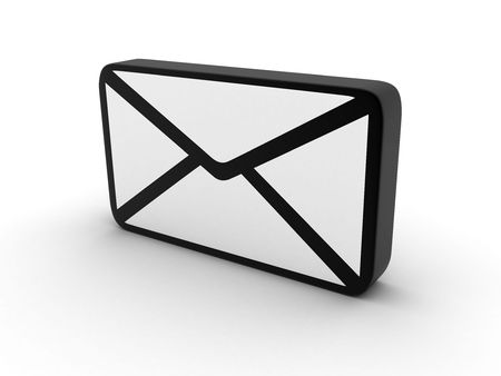 consignor: electronic letter on a white background
