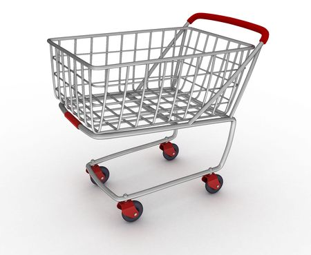 cart on a white background photo