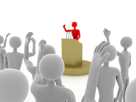 election choices: voting of crowd of people