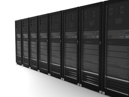 datacenter: abstract presentation of the server on earth