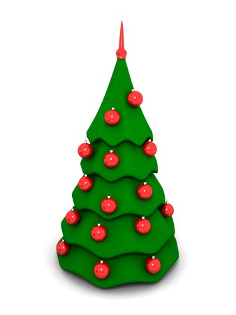 a new-year tree is in 3d Stock Photo - 3956341