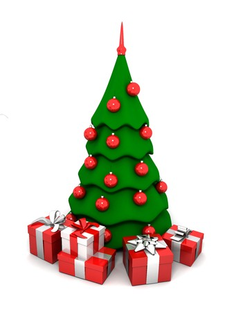 a new-year tree and gifts Stock Photo - 4015101