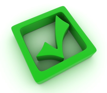 done: green mark is done in 3d