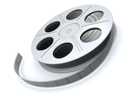film on a white background in 3d