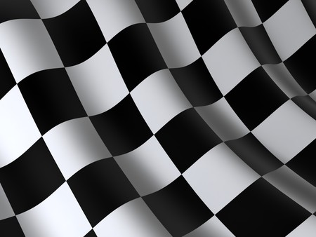 checkered flag: flag of start or finesha, done in 3d