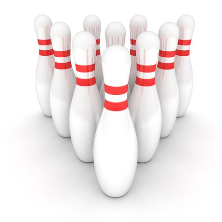 symbol of bowling on a white background photo