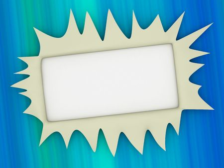 void: empty, white blank for text entering (3d) Stock Photo