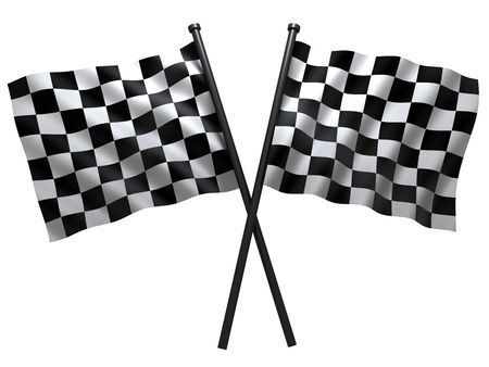 finishing checkered flag: flag of start or finesha, done in 3d