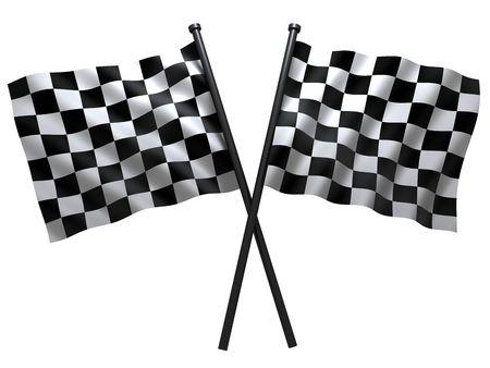 cuadros blanco y negro: pabell�n de iniciar o finesha, hecha en 3D Foto de archivo