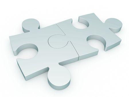 verschillen: Abstract jigsaw-puzzel achtergrond (gedaan in 3d) Stockfoto