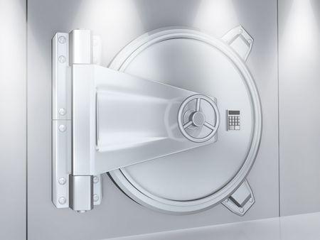 Banking metallic door, storage (done 3d)  photo