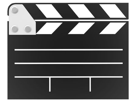 clapboard sign (isolated, done in 3d) photo