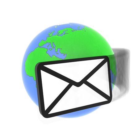 consignor: Abstract email and earth (done in 3d)