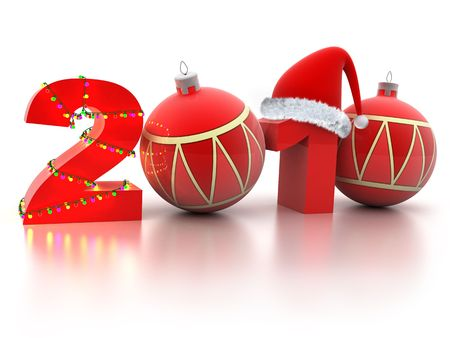 midnight time: Abstract new year (done in 3d, isolated)   Stock Photo