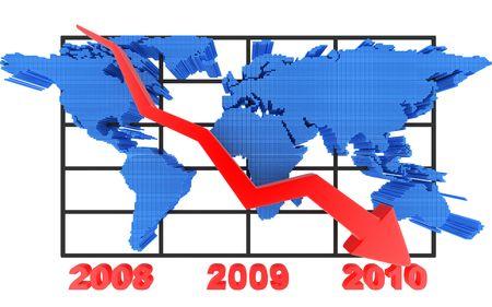 sign of world index (pointer downward)   photo