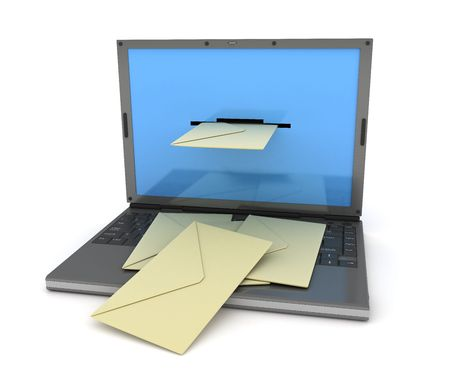 telegrama: portátil que letras salen de