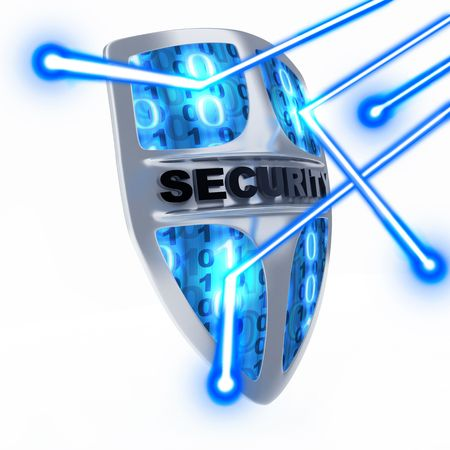 защита: Shield antivirus, abstract (done in 3d)