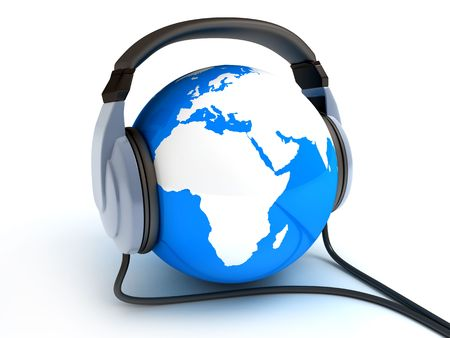 world record: Abstract symbol world music (done in 3d)  Stock Photo