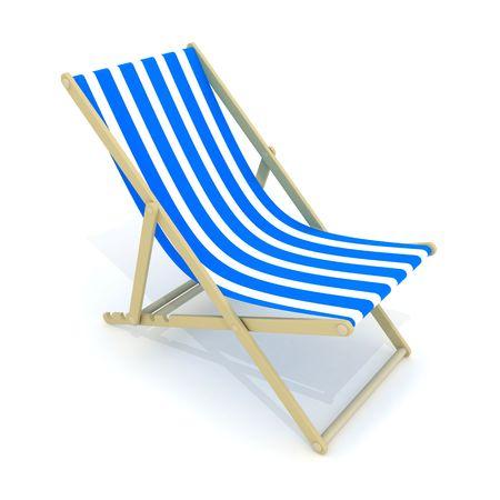 Strand Bett blau (in 3d getan, isoliert)