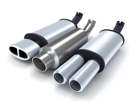 exhaust-pipe on isolated background (done in 3d) Stock Photo - 6679971